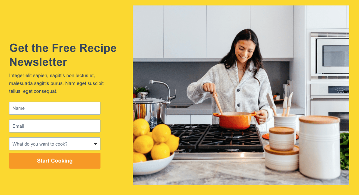 Landing page created on Instapage