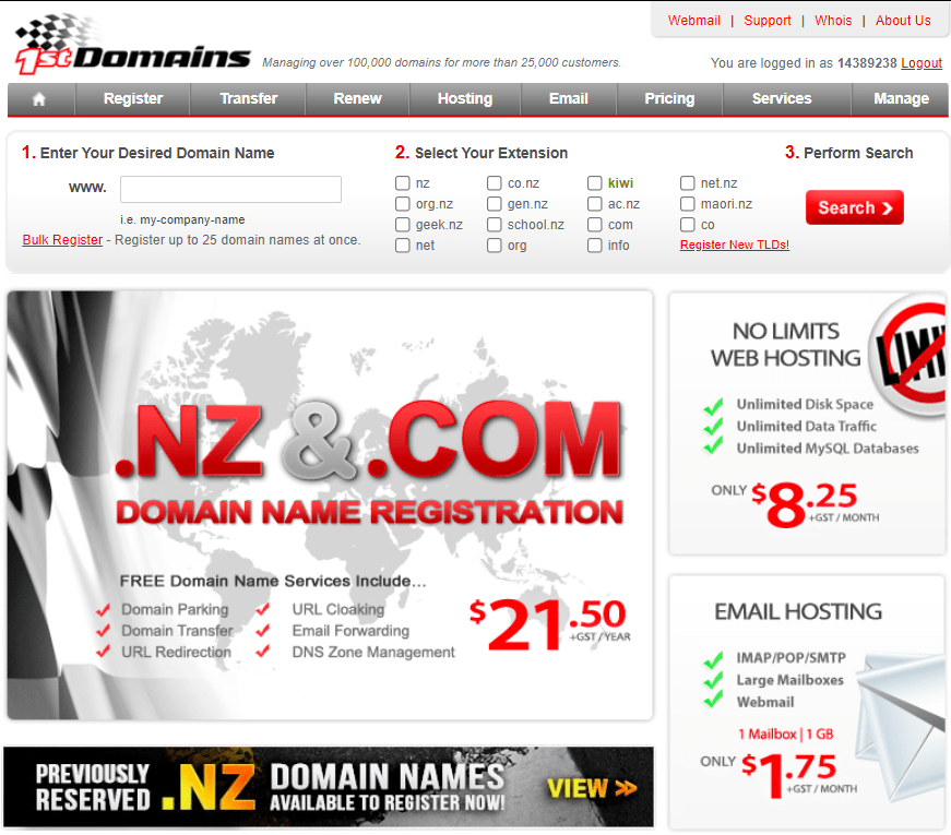 1st Domains - Homepage