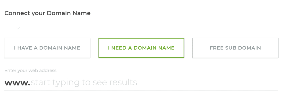 the domain name UI