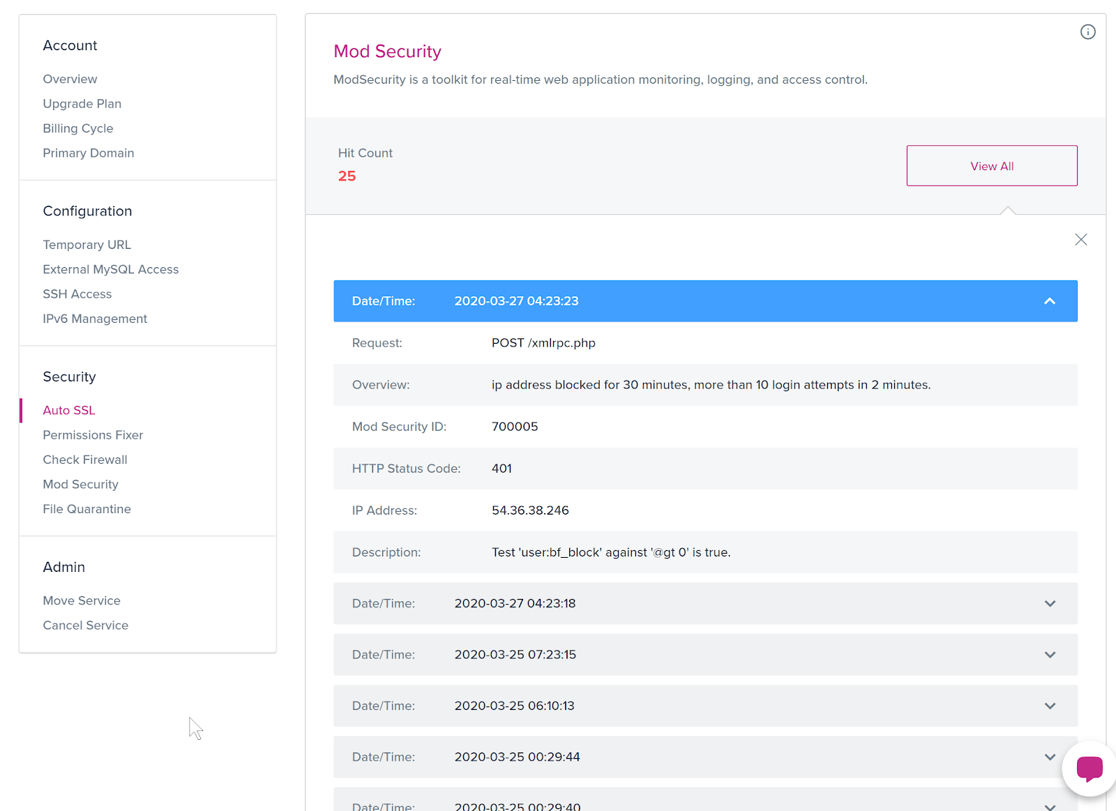 The ModSecurity overview