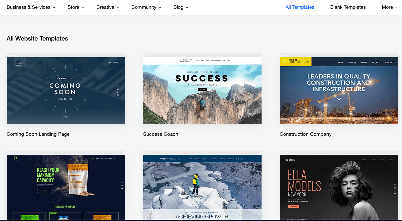 Wix Template Examples