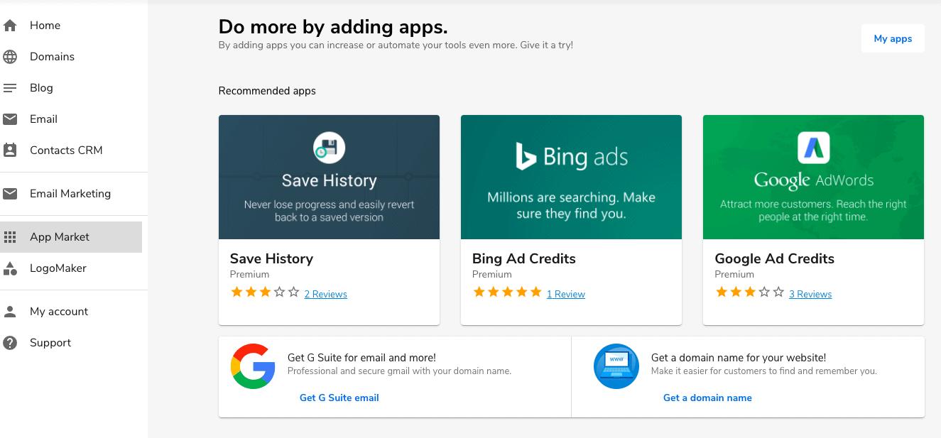 SiteBuilder App Market