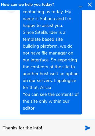 SiteBuilder Customer Service