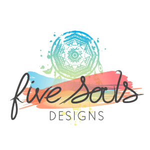 Watercolor logo - Five Souls Designs