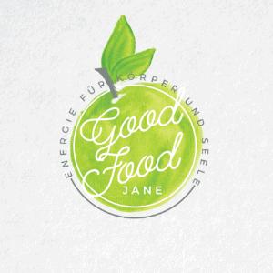 Watercolor logo - Good Food Jane