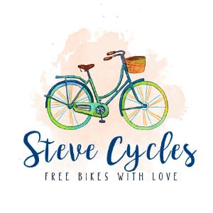 Watercolor logo - Steve Cycles