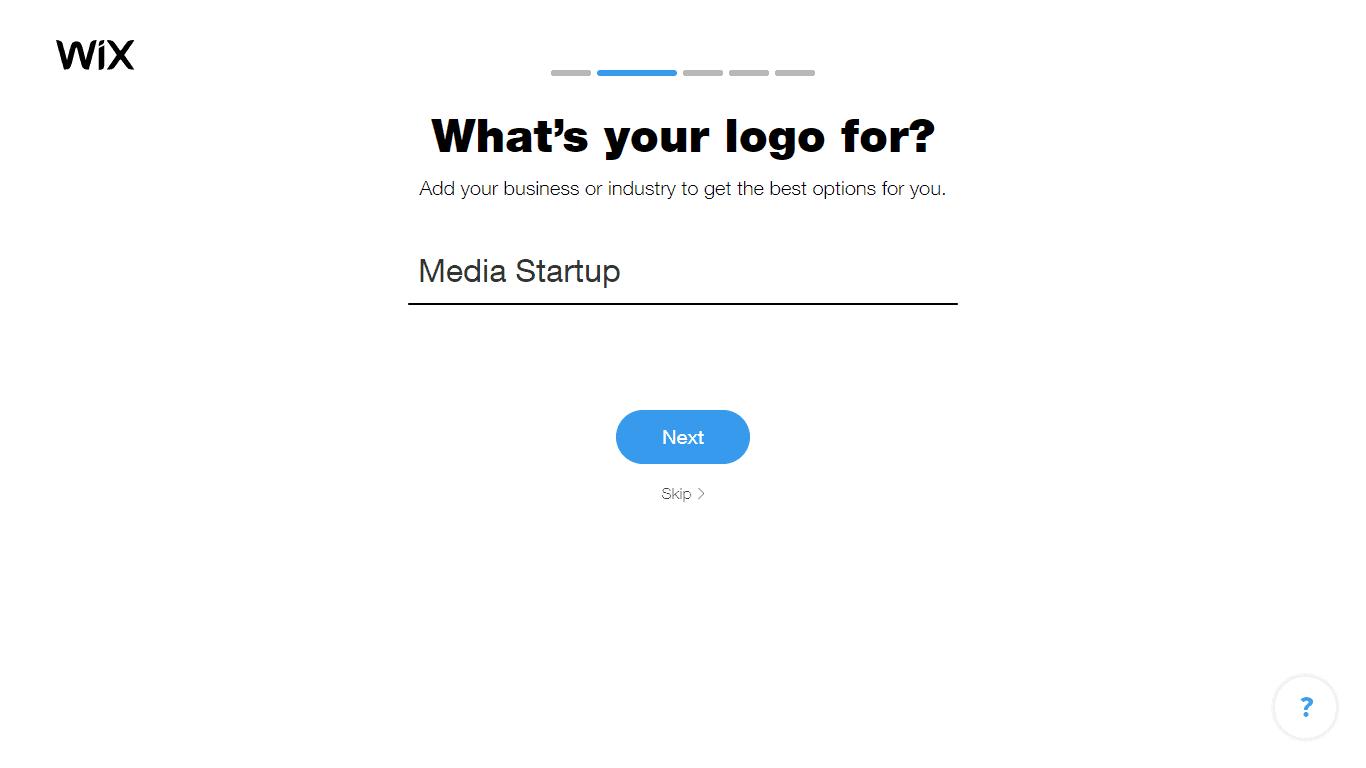 Wix Logo Maker screenshot - Choose industry option2