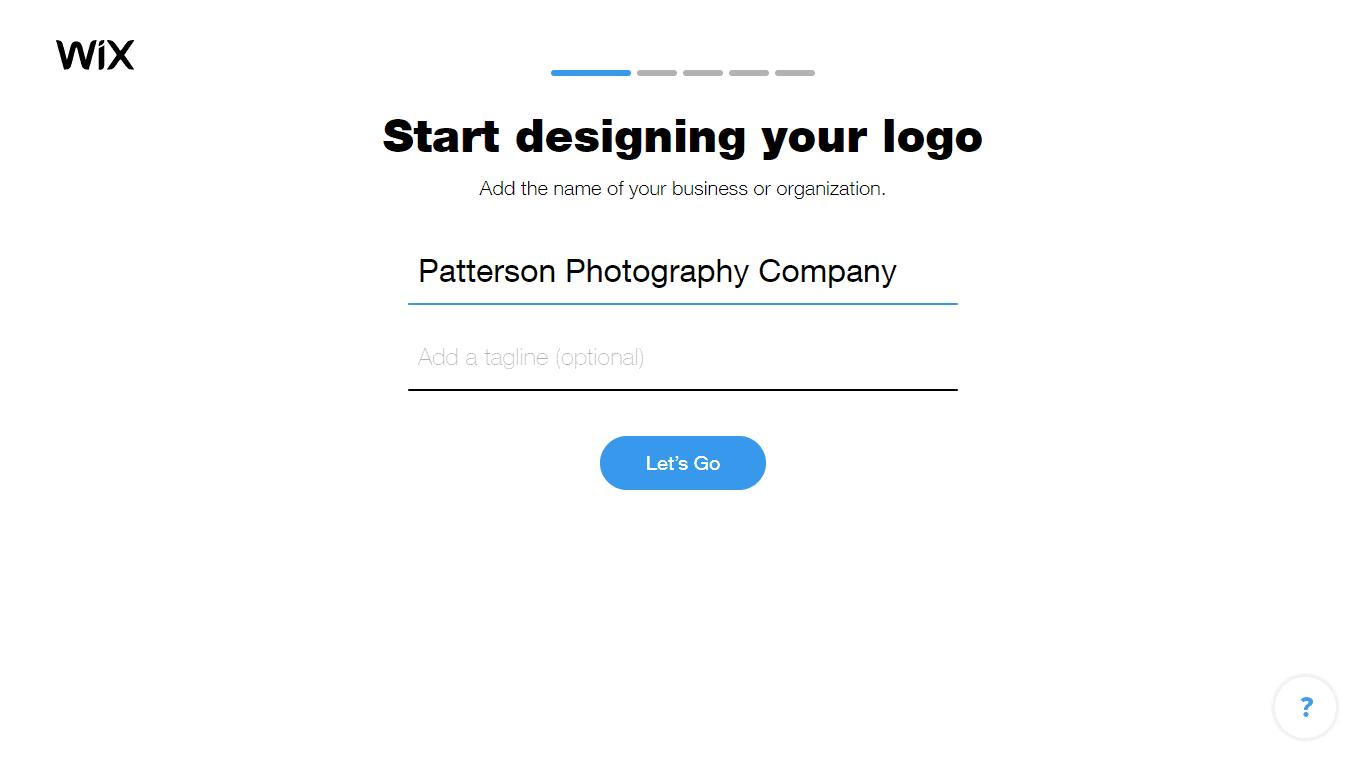 Wix Logo Maker screenshot - Add business name