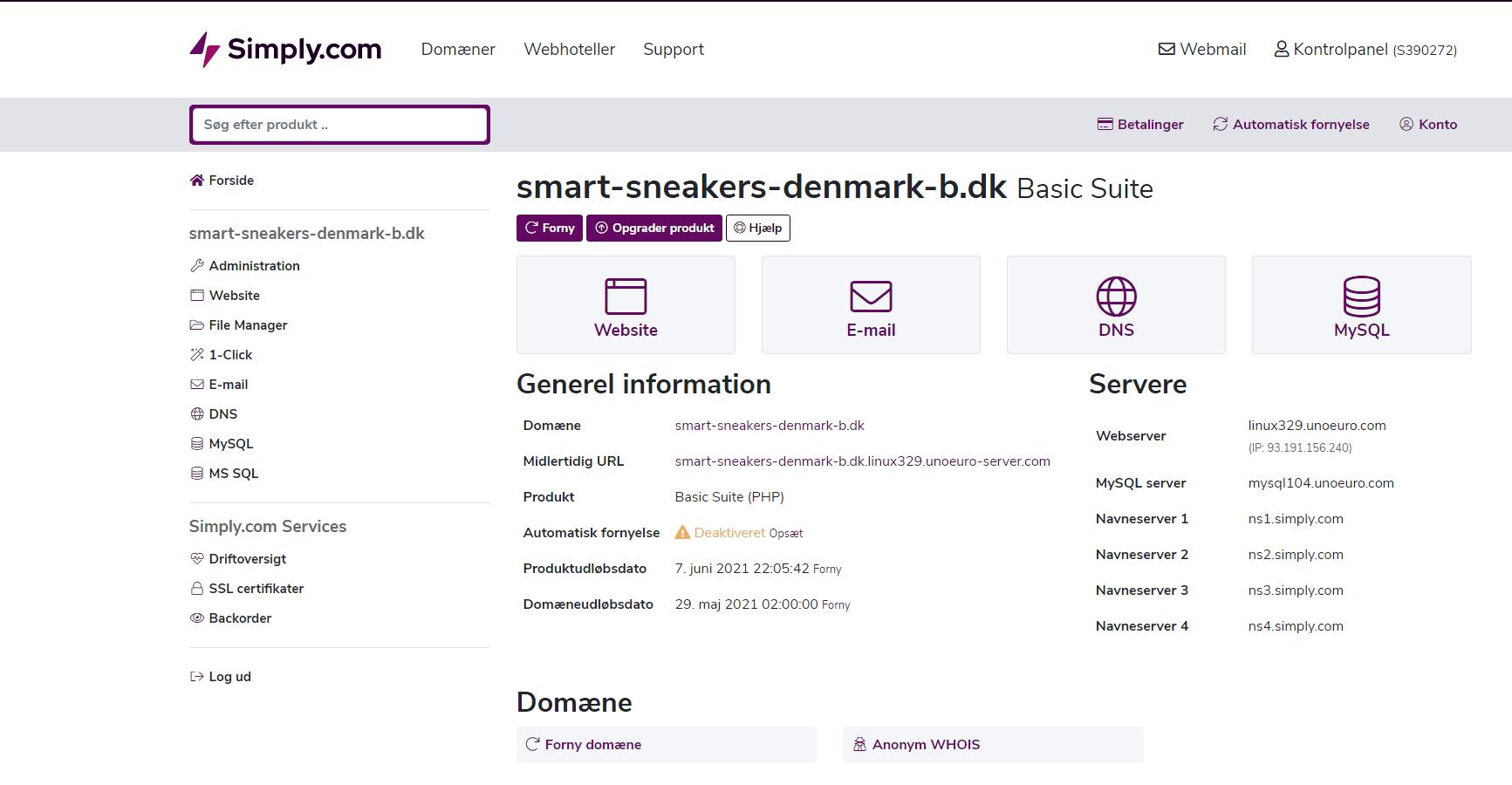 Simply.com – Fantastisk overblik over funktioner