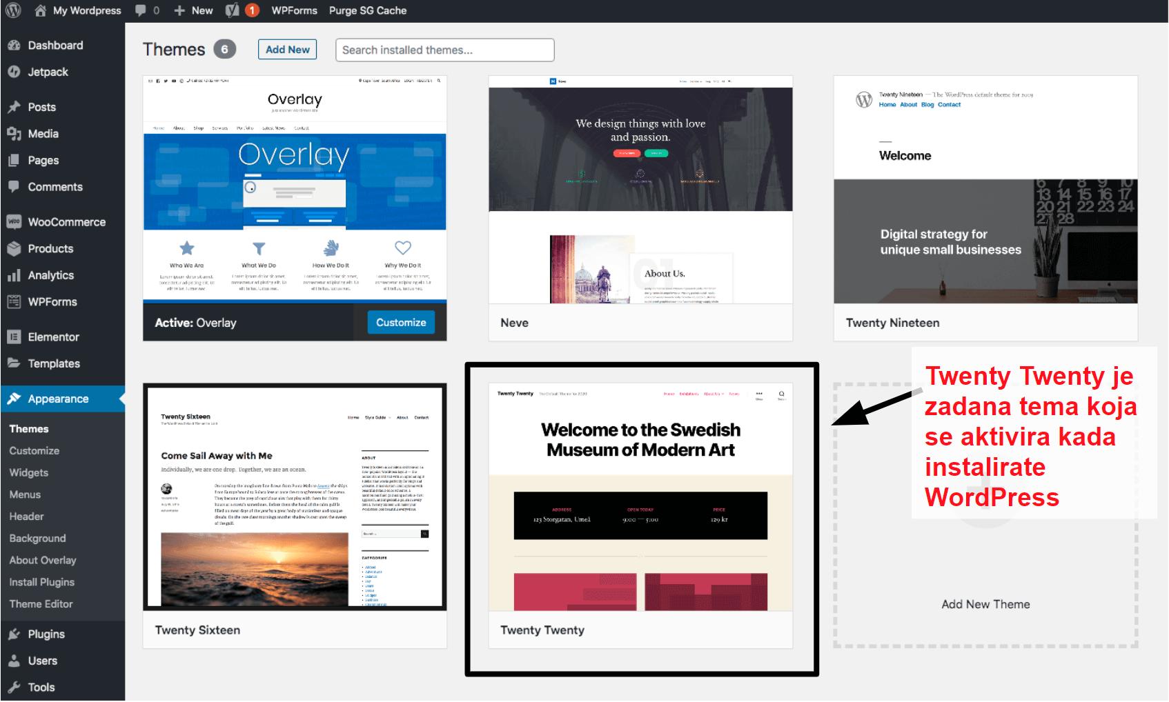 WordPress themes panel HR17