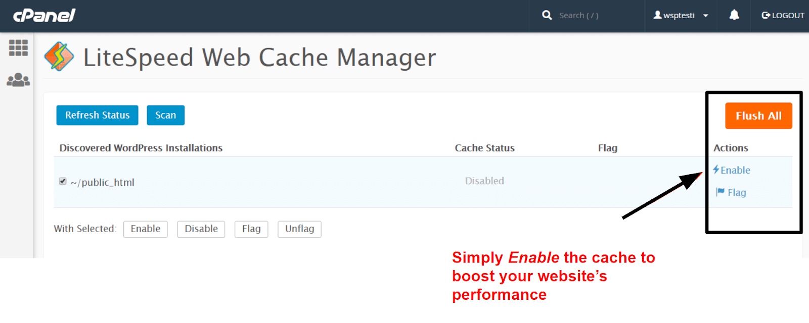 InterServer cache manager