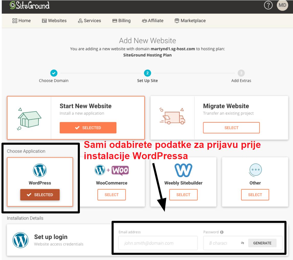 installing wordpress via siteground HR14