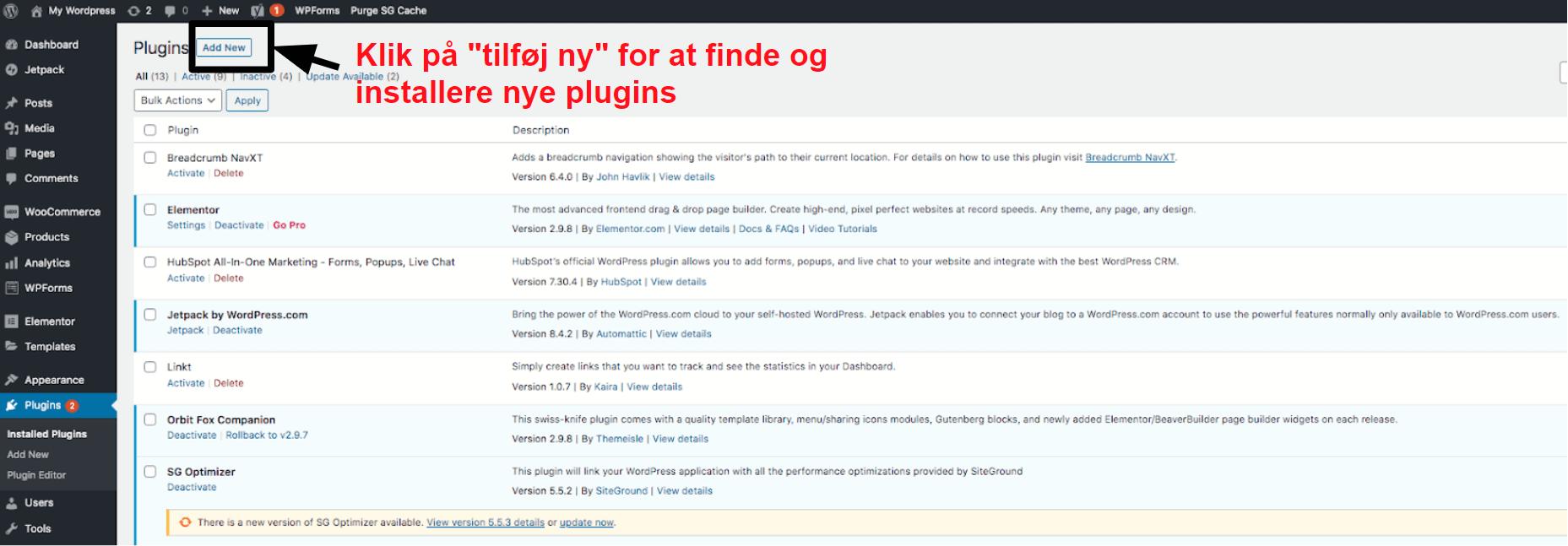manage your installed plugins in WordPress DA19
