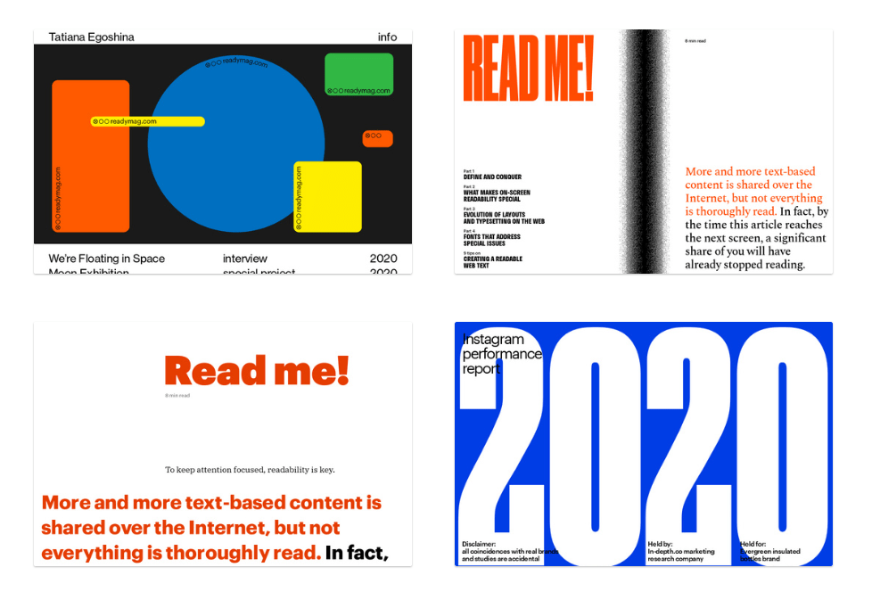 Readymag templates
