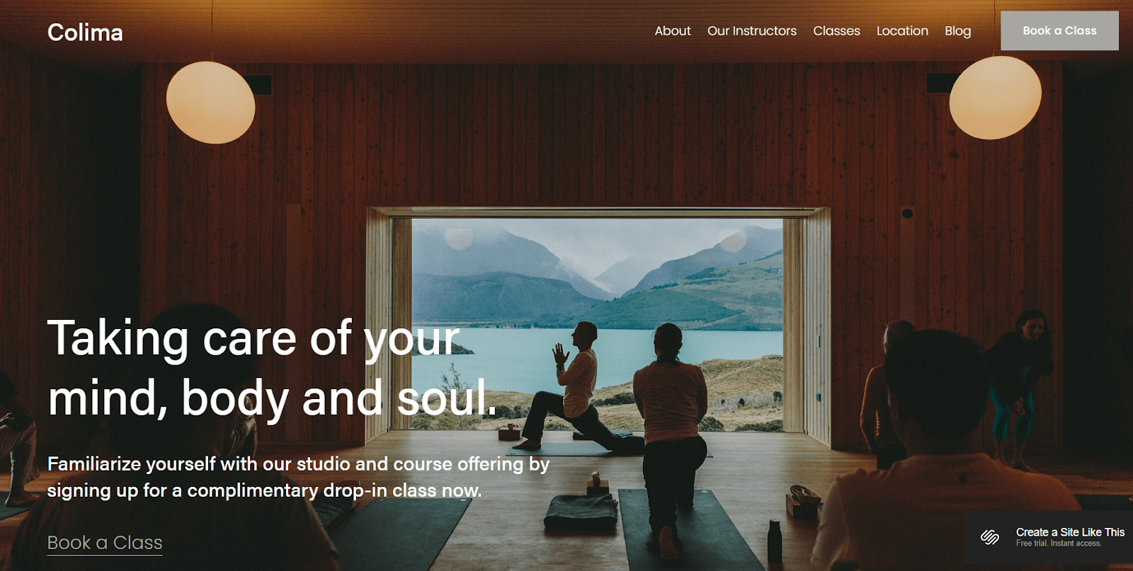 Squarespace's Colima template sets the mood for travel