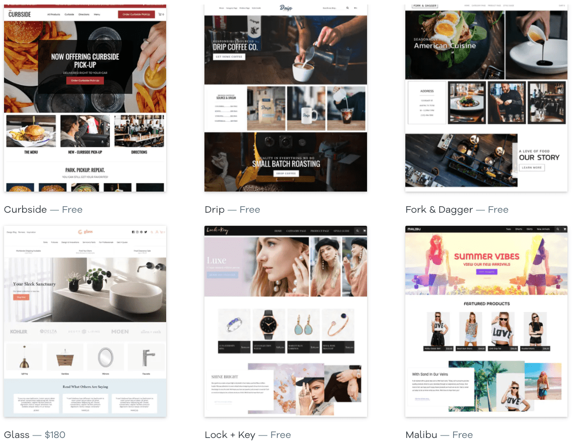 Volusion e-commerce templates