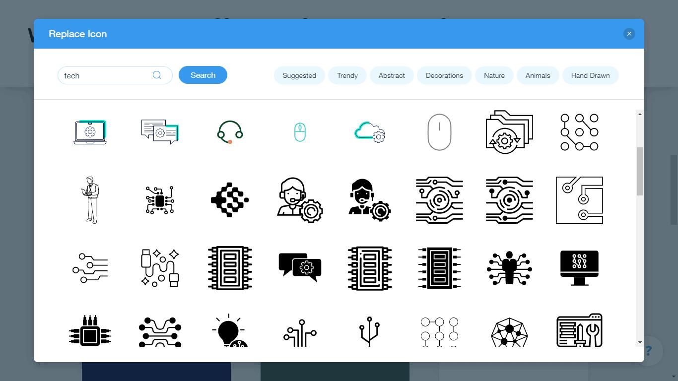 Wix Logo Maker screenshot - Tech icons